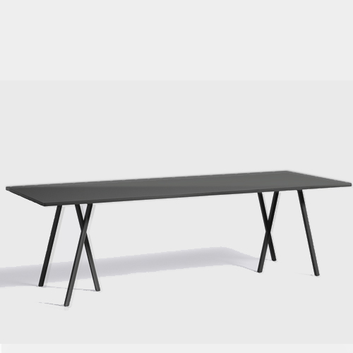 HAY Loop Stand Table black 250 cm
