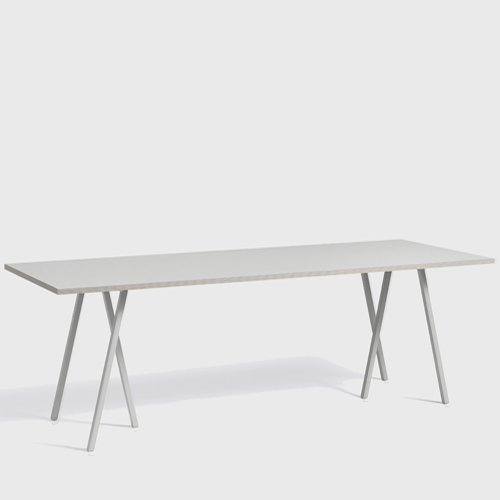 HAY Loop Stand Table grey 250 cm