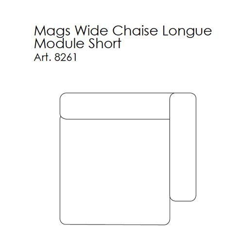 HAY Mags 8262 Chaise Longue Module Short Left Armrest