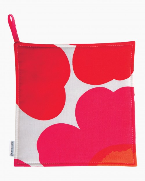 Pieni Unikko pot holder white/red