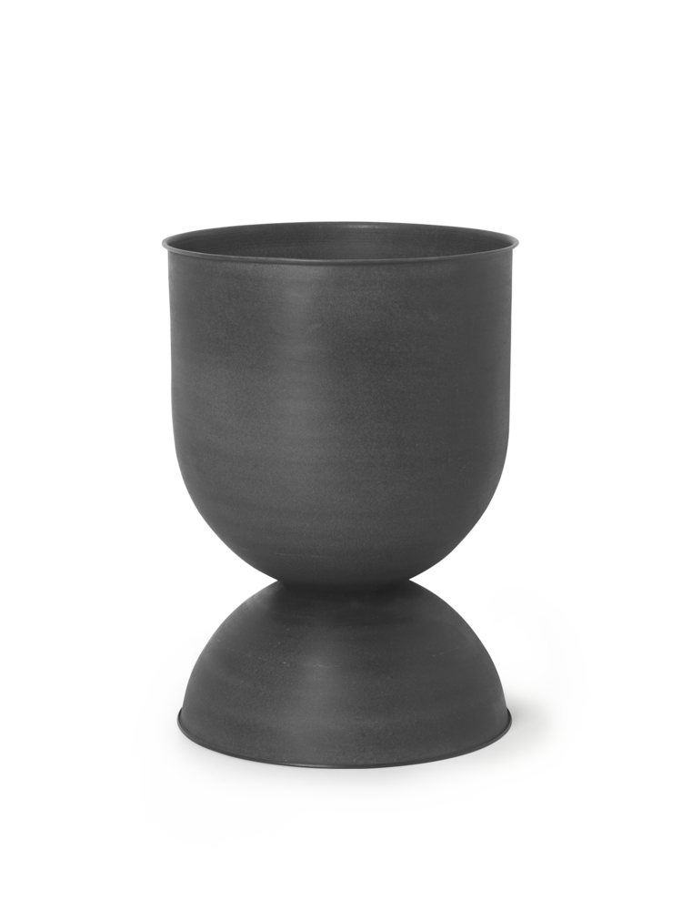 Hourglass pot medium black