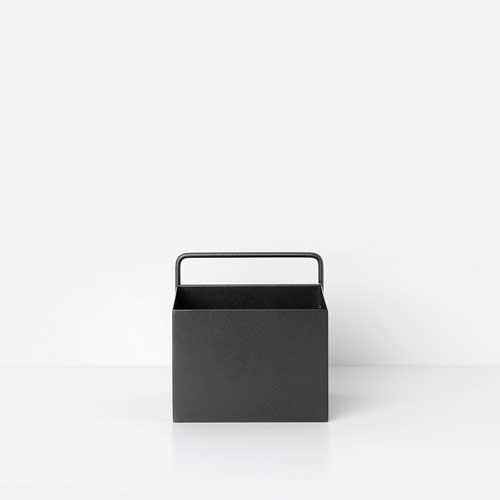 Wall box square black