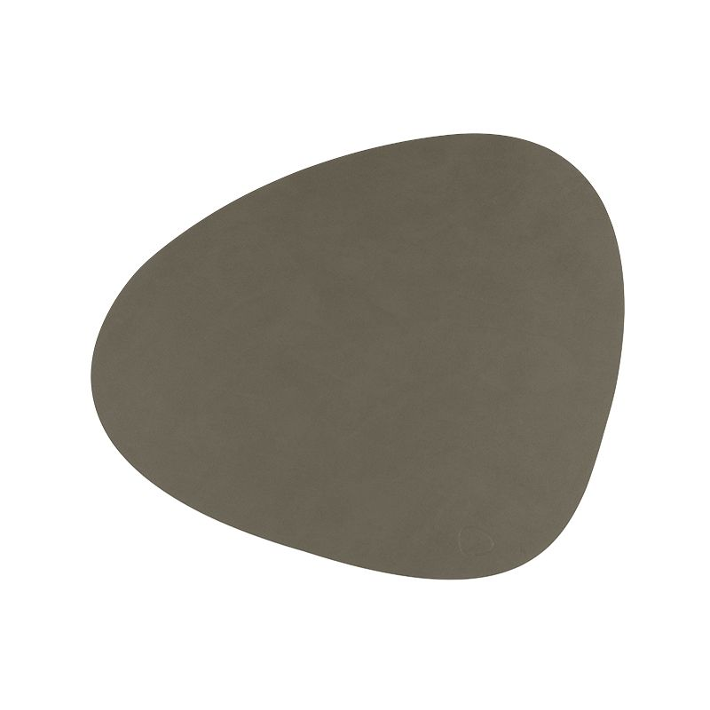 Placemat curve double armygreen/ nature