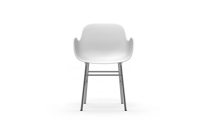 Normann CPH Form Armchair Chrome gestoffeerd