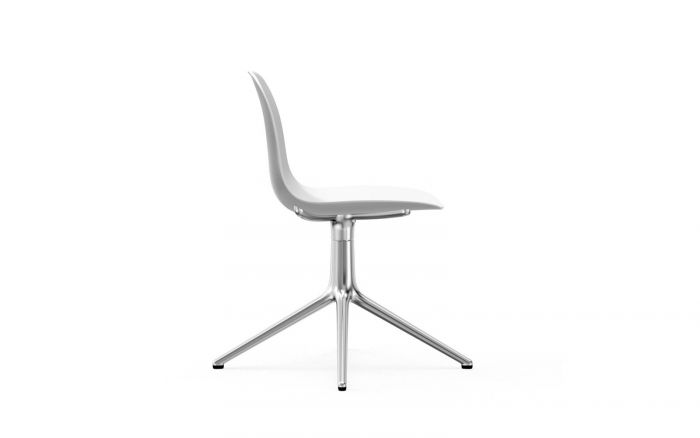 Normann CPH Form Chair Swifel 4L Alu gestoffeerd