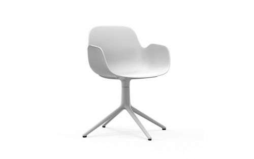 Normann CPH Form Armchair Swivel 4L White Aluminium