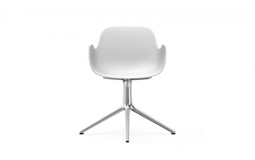 Normann CPH Form Armchair Swivel 4L White alu gestoffeerd
