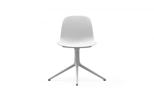 Normann CPH Form Chair Swivel 4L White Alu gestoffeerd