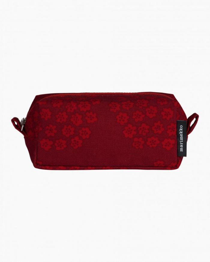 Tiise Puketti cosmetic bag dark red/red/pink