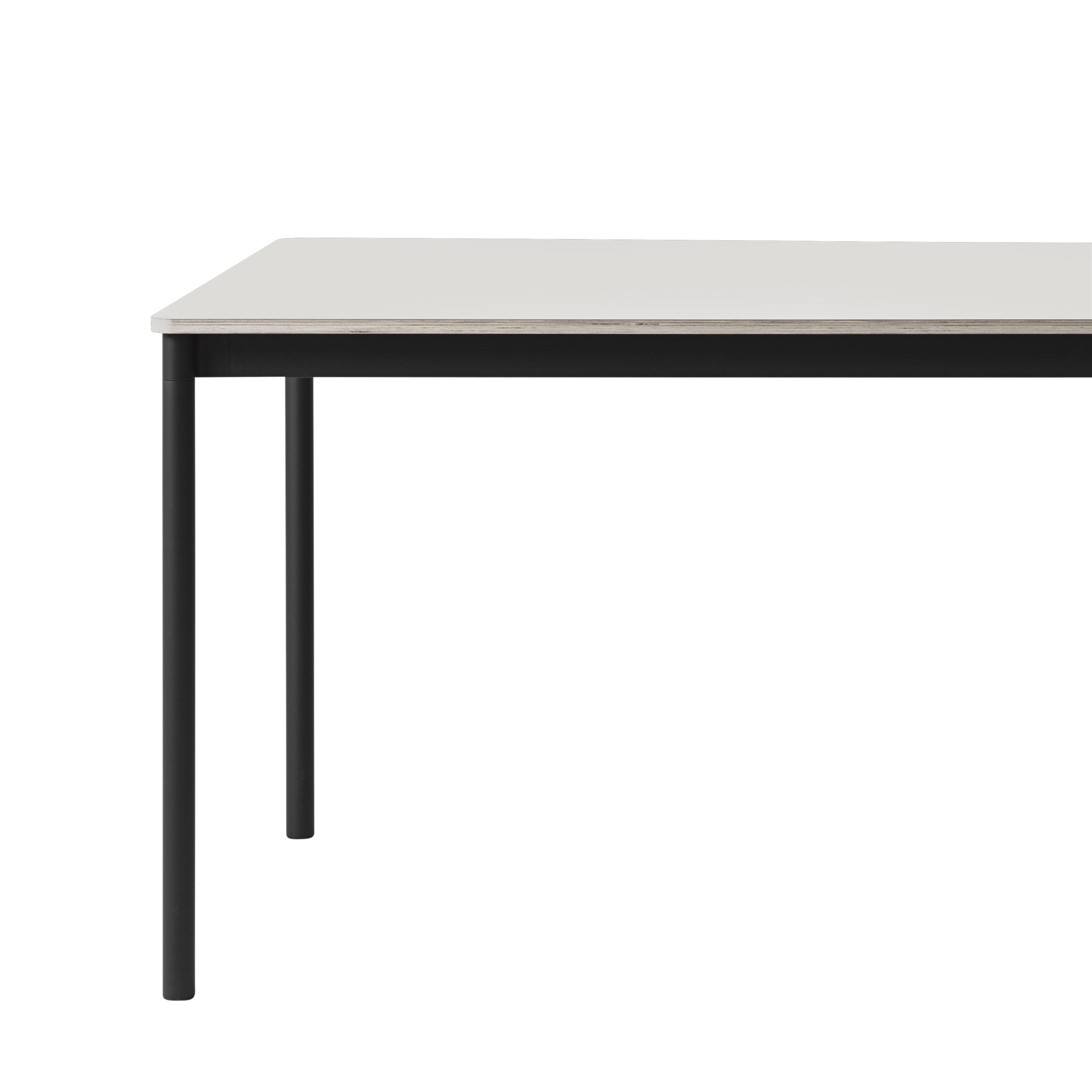 Muuto Base tafel 250x90 White Laminate/ABS/Black