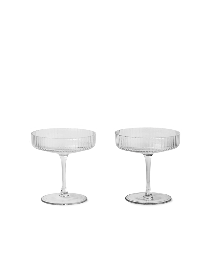 Ripple champagne set 2 clear