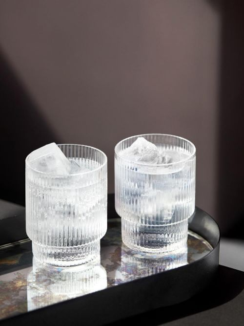 Ripple glasses set 4 clear