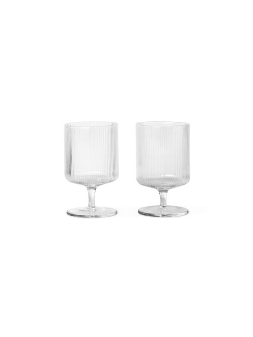 Ripple Wine Glasses - Set of 2 - Clear