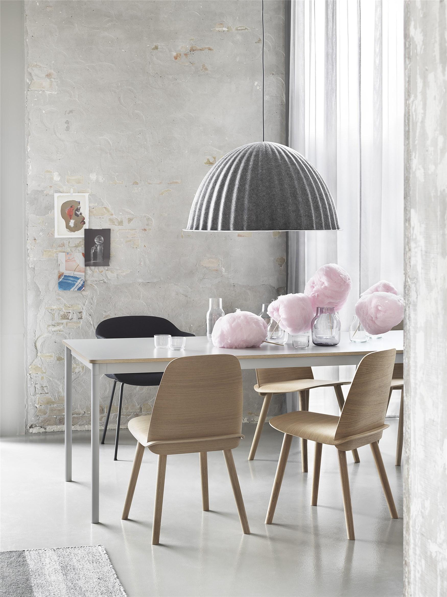 Muuto Base tafel 140x80 White Laminate/Plywood/White