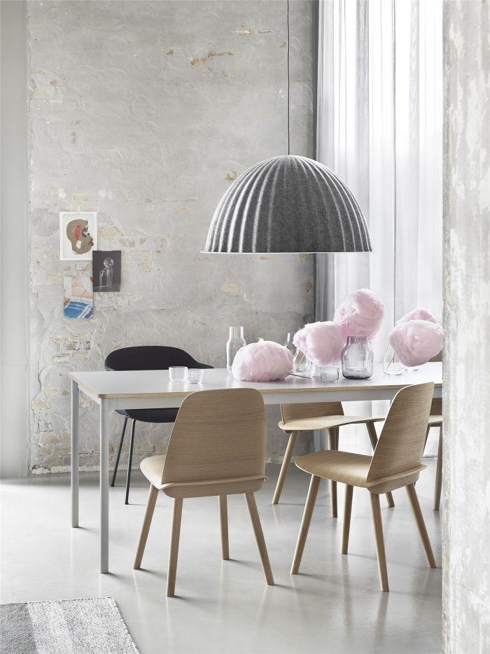 Muuto Base tafel 250x90 White Laminate/Plywood/White