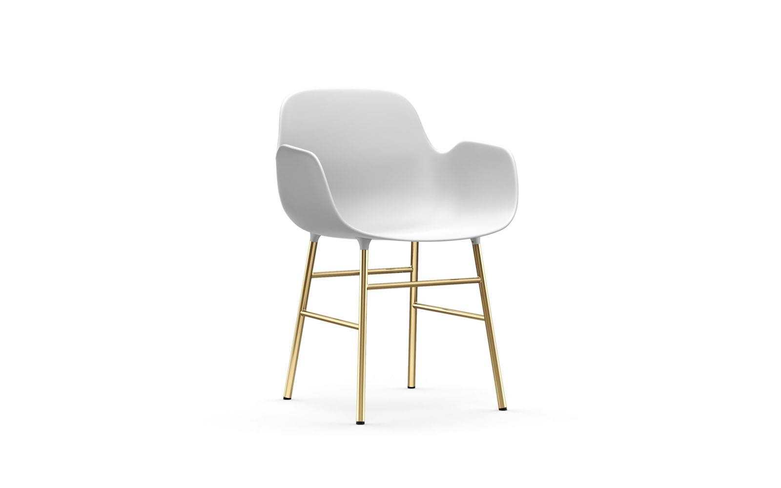 Normann CPH Form Armchair Brass gestoffeerd