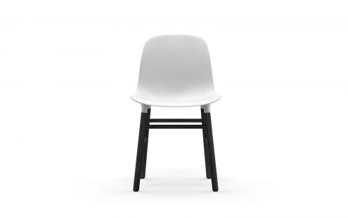 Normann CPH Form Chair Wood Black gestoffeerd