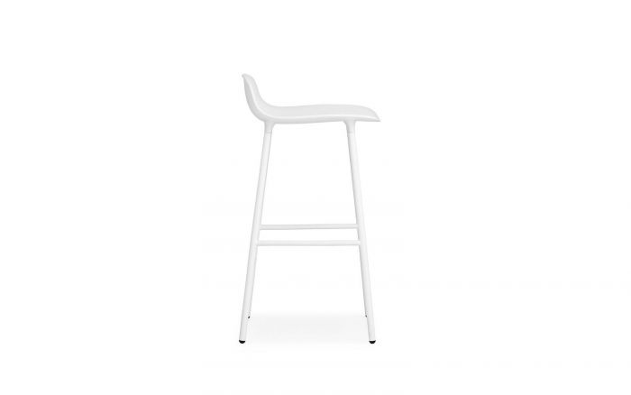 Normann CPH Form Bar Stool Steel gestoffeerd
