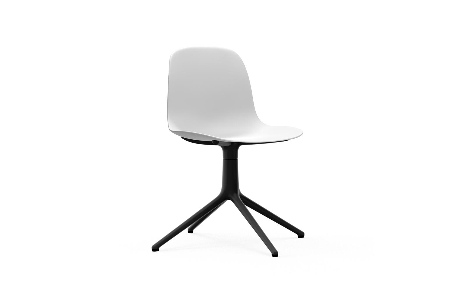 Normann CPH Form Chair Swivel 4L Black Aluminium
