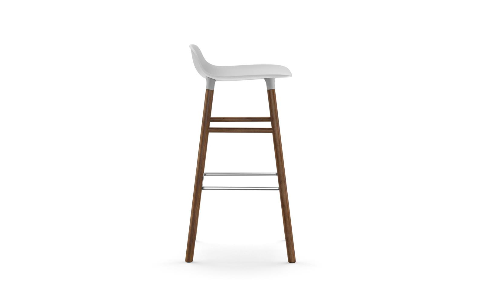 Normann CPH Form Bas Stool 75cm Walnut