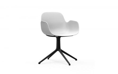Normann CPH Form Armchair Swivel 4L Black Aluminium