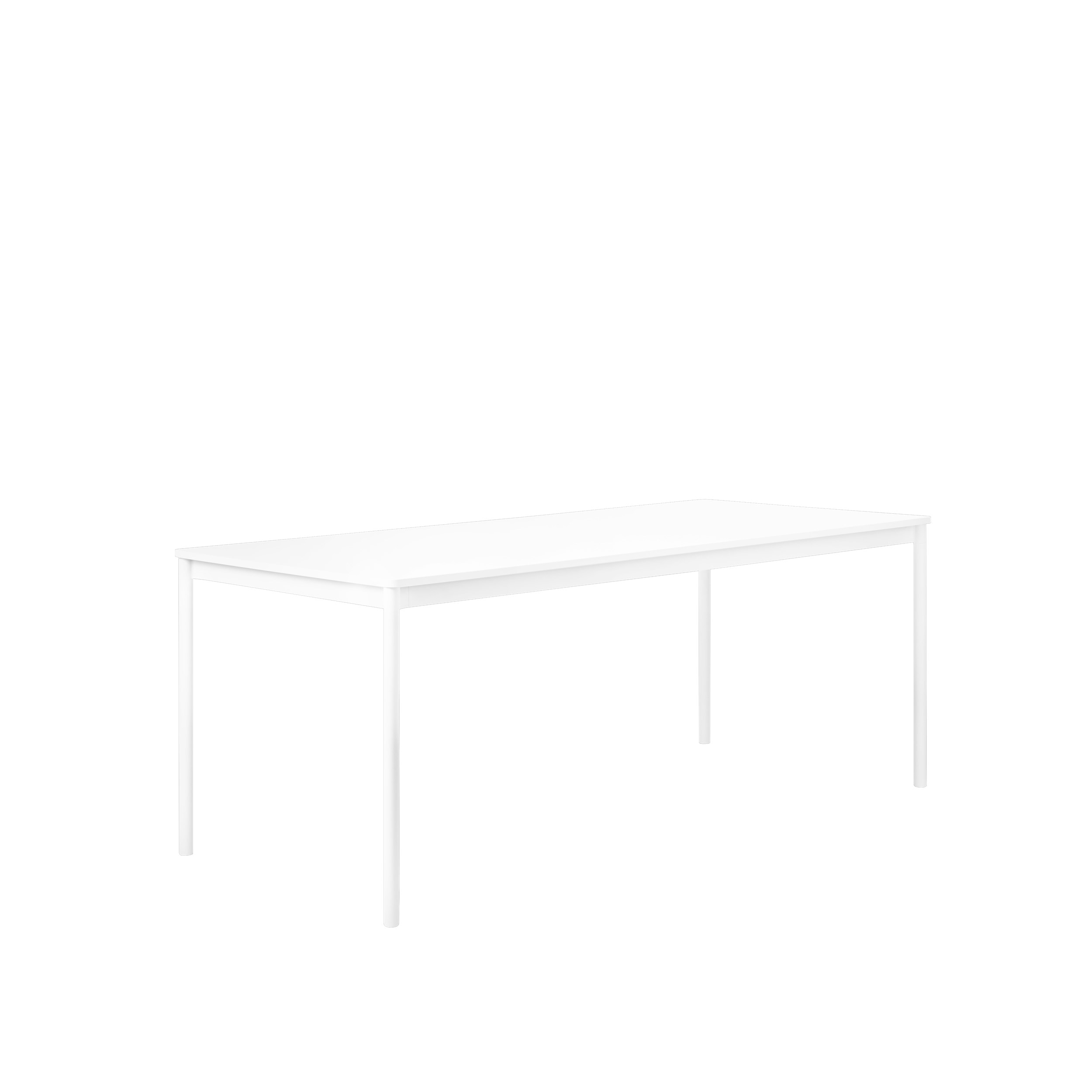 Muuto Base tafel 190x85 White Laminate/ABS/White