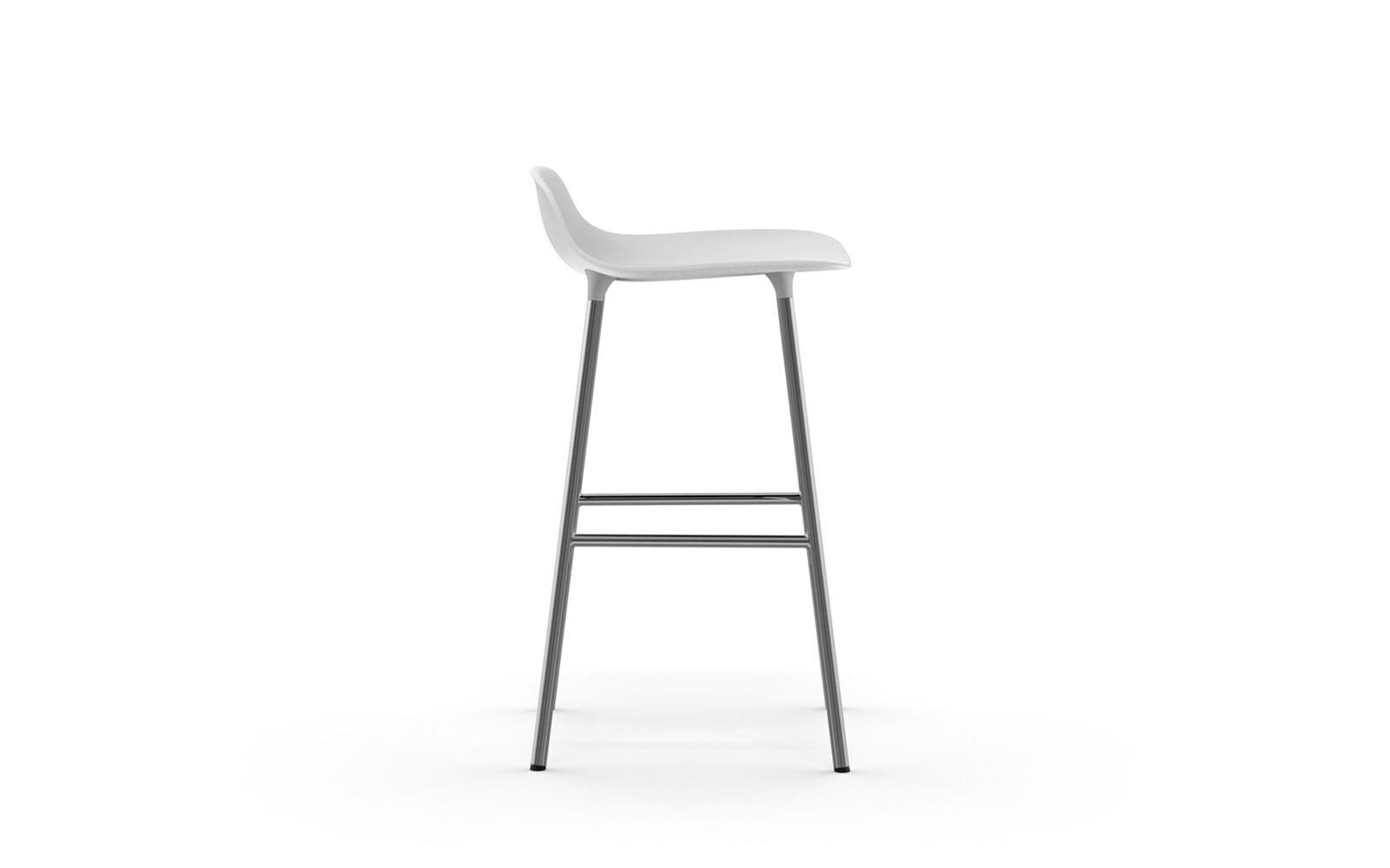 Normann CPH Form Bar Stool Chrome gestoffeerd