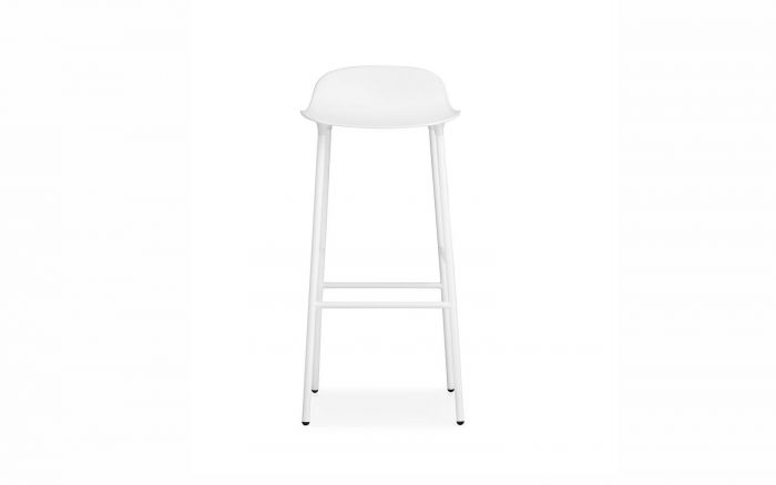 Normann CPH Form Bar Stool 75cm Steel gestoffeerd