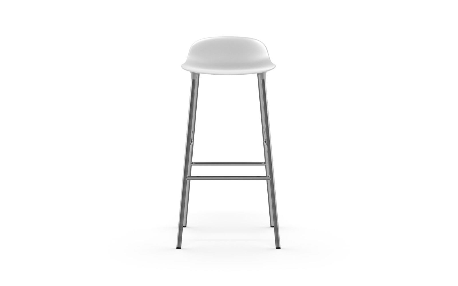 Normann CPH Form Bar Stool 75cm Chrome gestoffeerd