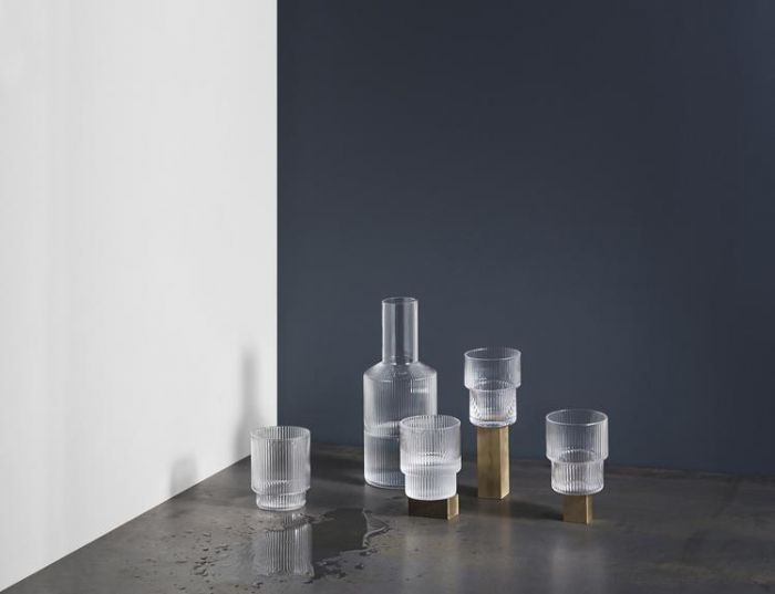Ripple Small Glasses - Set of 4 - Clear