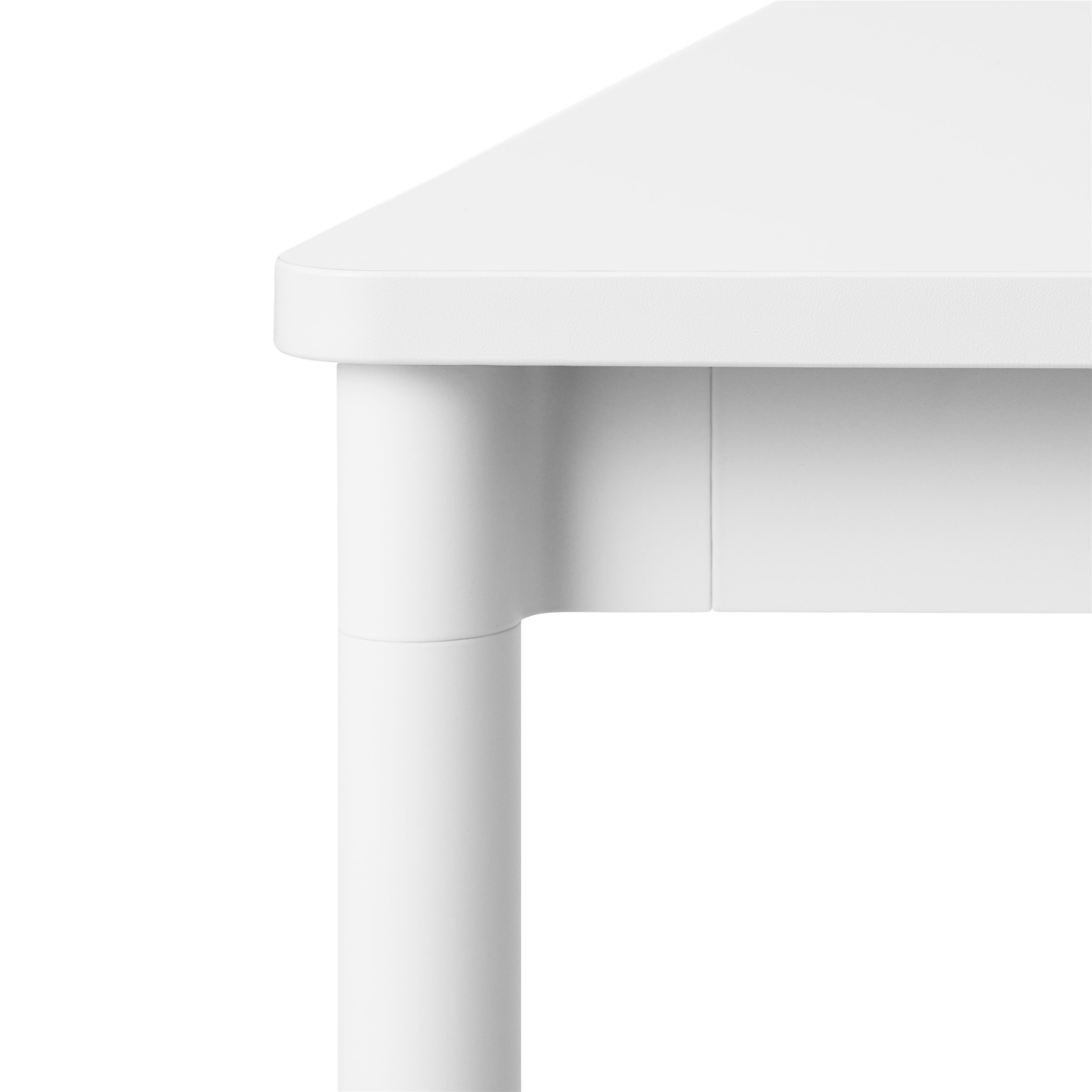 Muuto Base tafel 190x90 White Laminate/ABS/White