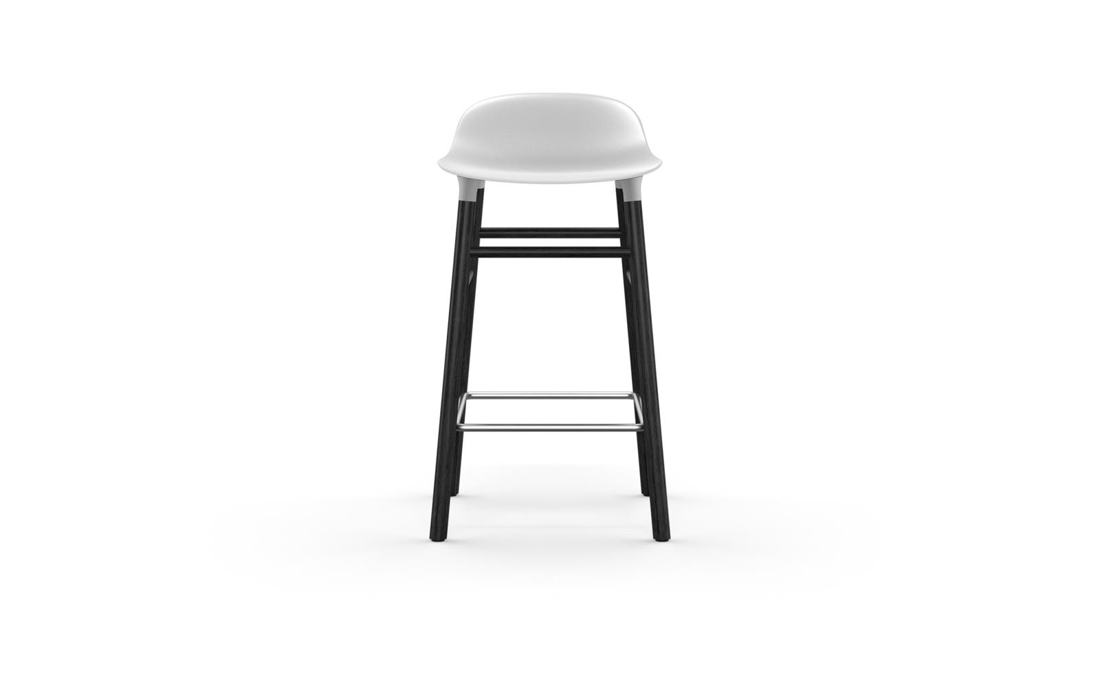 Normann CPH Form Bar Stool 65cm Wood Black