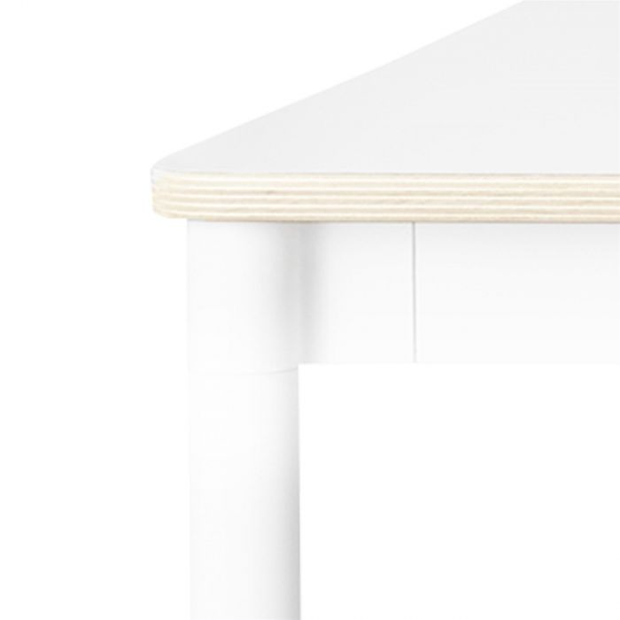 Muuto Base tafel 190x85 White Laminate/Plywood/White