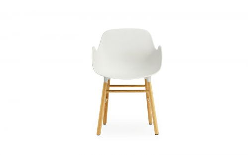 Normann CPH Armchair Wood Oak gestoffeerd