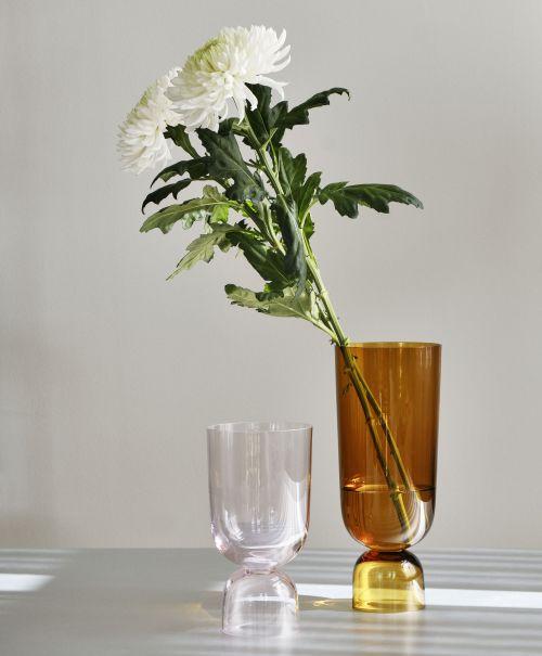 Bottoms Up Vase L Amber