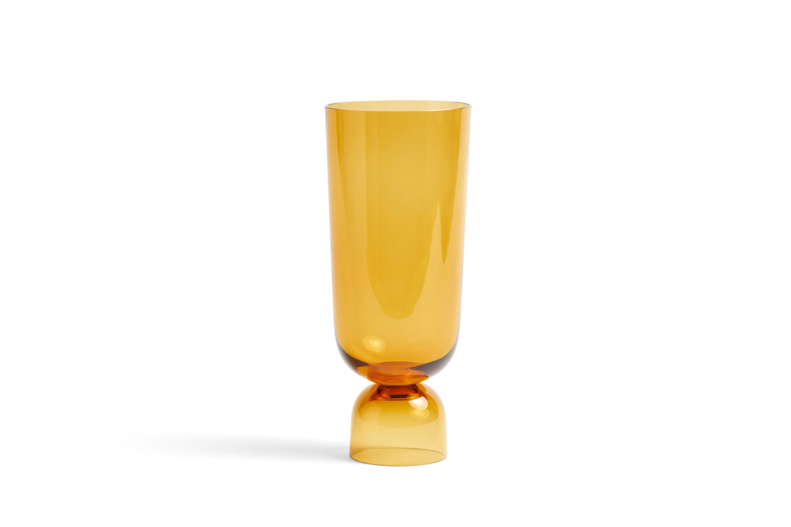 Bottoms Up Vase L Amber
