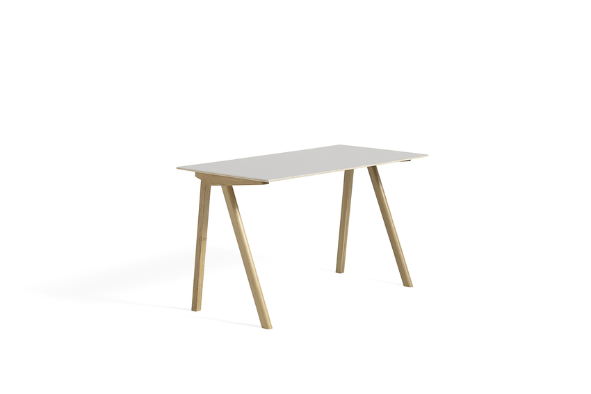 Hay CPH 90 Desk Off White Linoleum Clear Lacquered