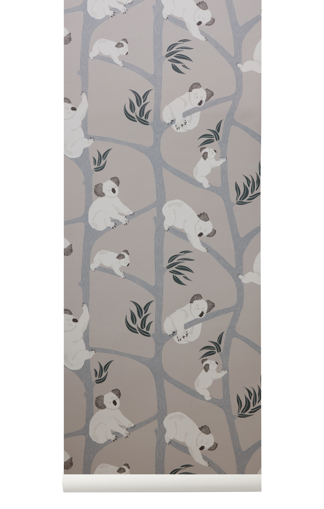 Ferm Living Behang Koala Grey