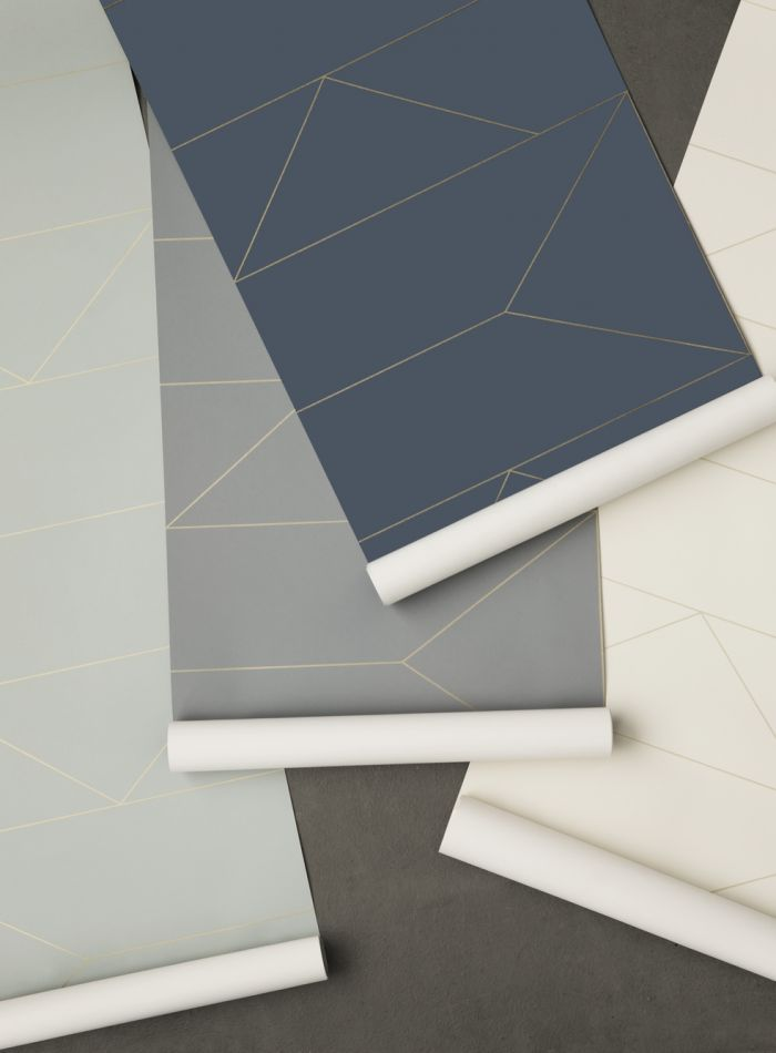 Ferm Living Behang Lines Grey