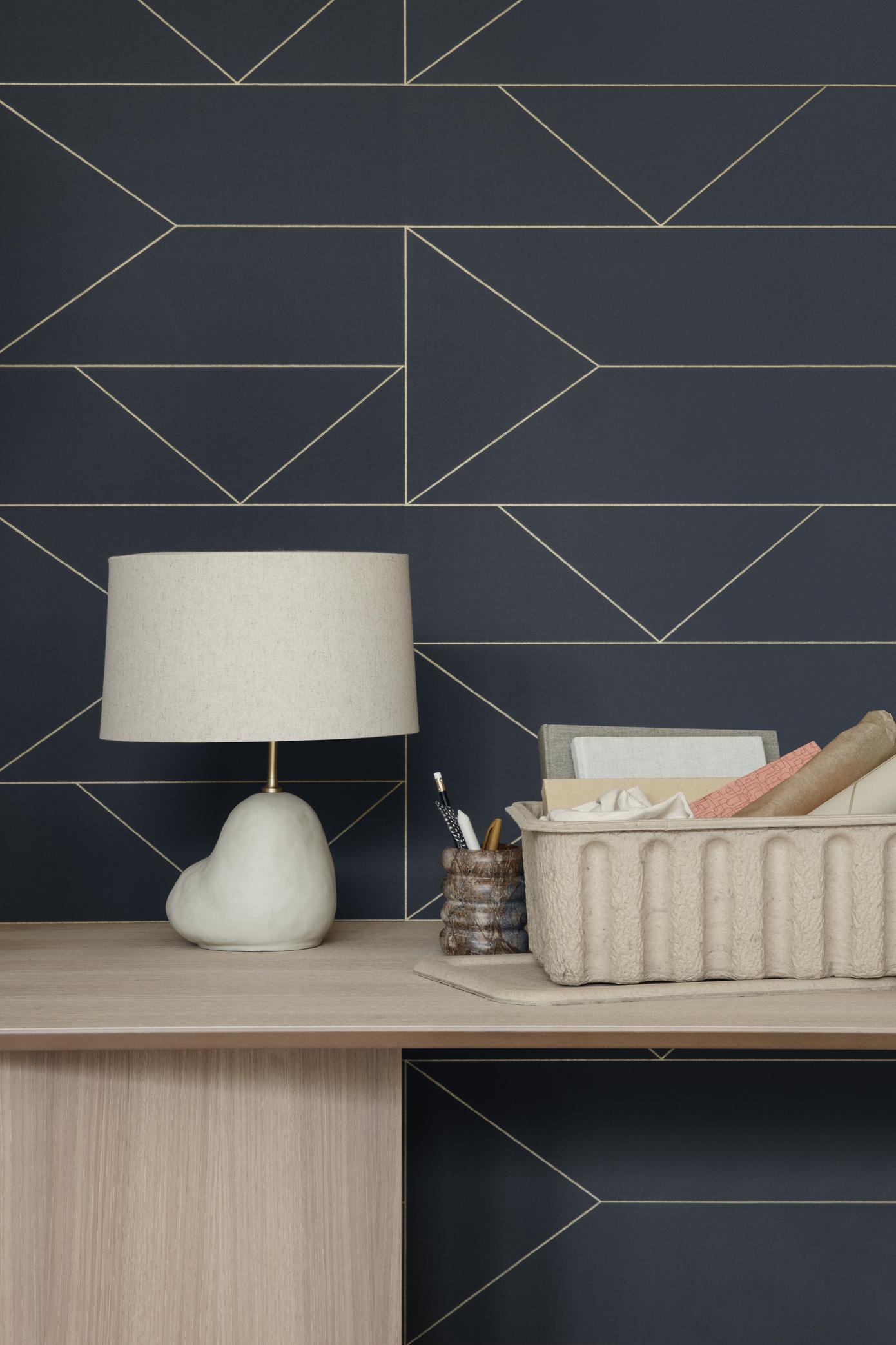 Ferm Living Wallpaper Lines Cashmere