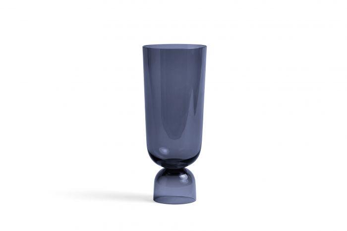 Bottoms up vase L navy blue
