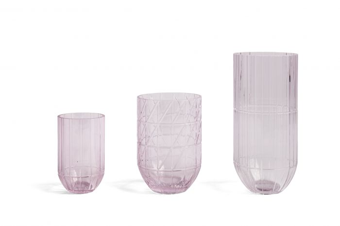 Colour vase L pink