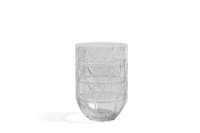 Colour vase L transparent
