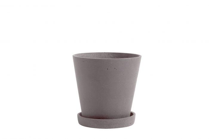 Flowerpot with saucer M plum