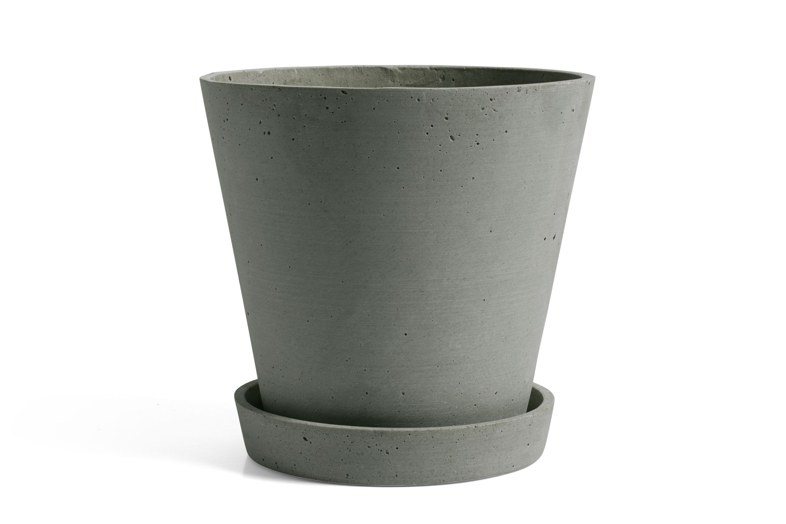Flowerpot with saucer XL green