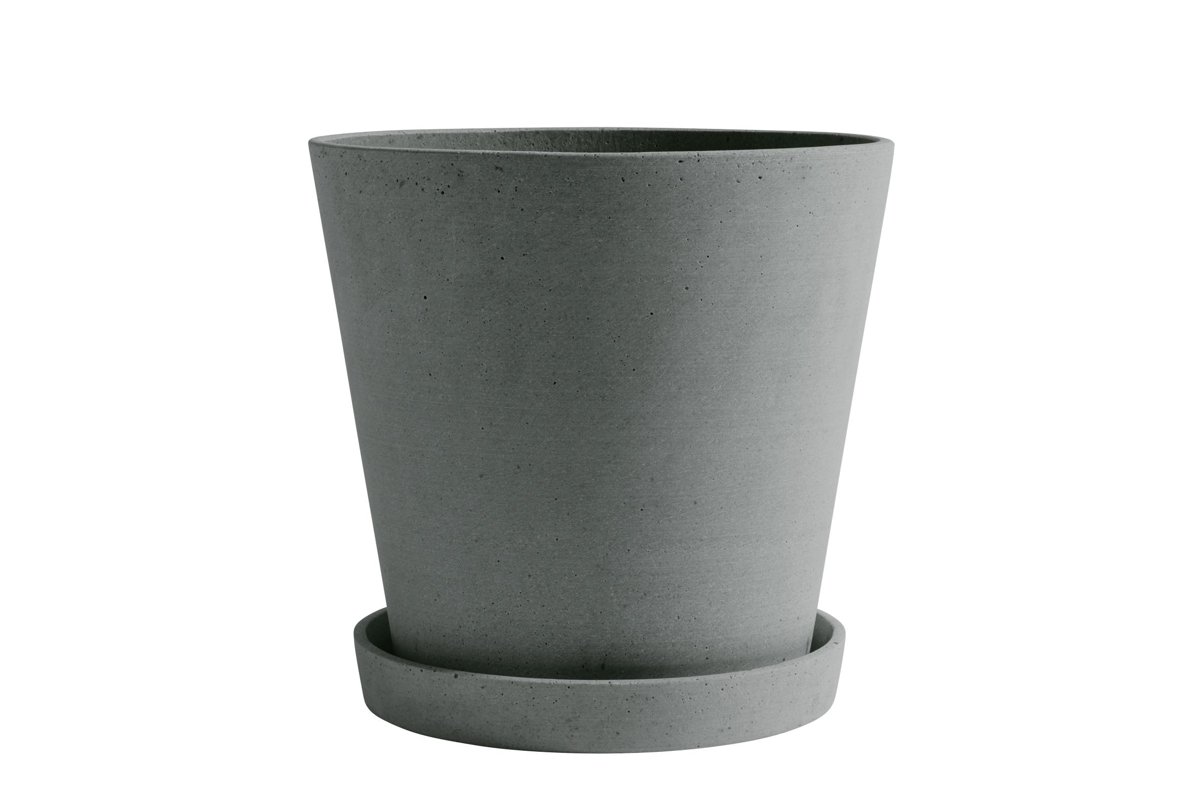 Flowerpot with saucer XXL green