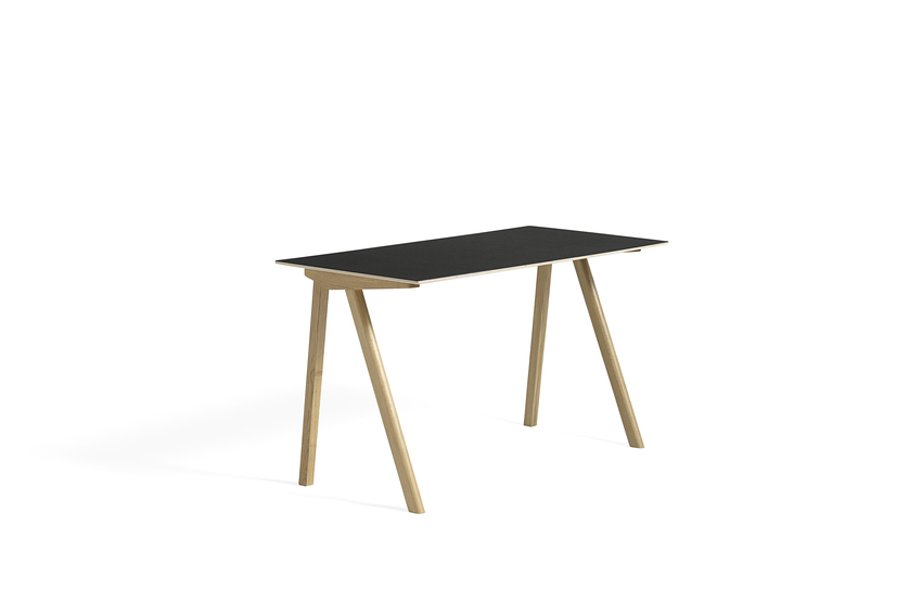 Hay CPH 90 Desk Black Linoleum Clear Lacquered