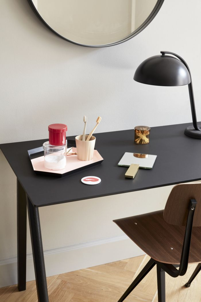 Hay CPH 90 Desk Black Linoleum Matt Lacquered
