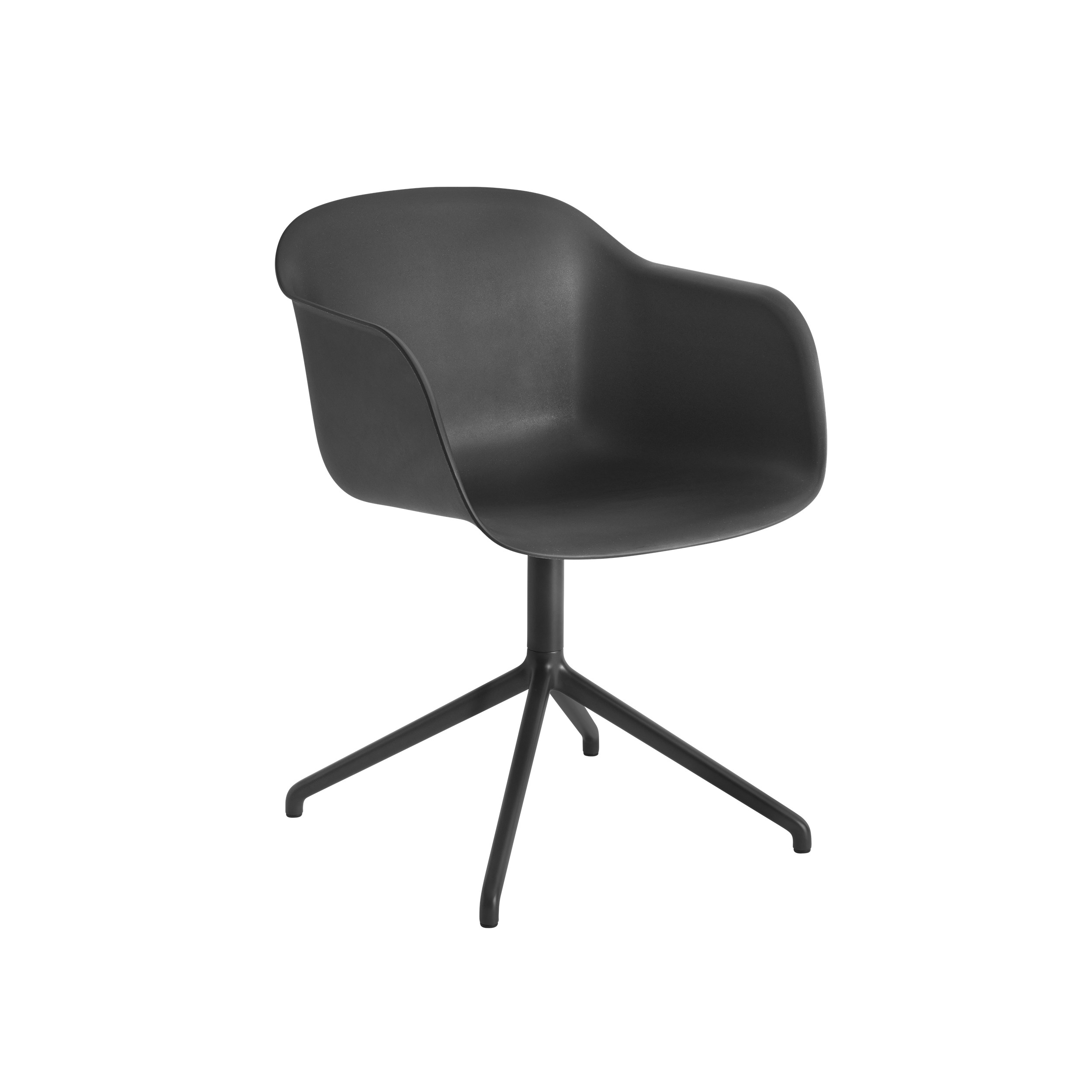 Muuto Fiber Armchair Swivel Base (wo return) Black/Black
