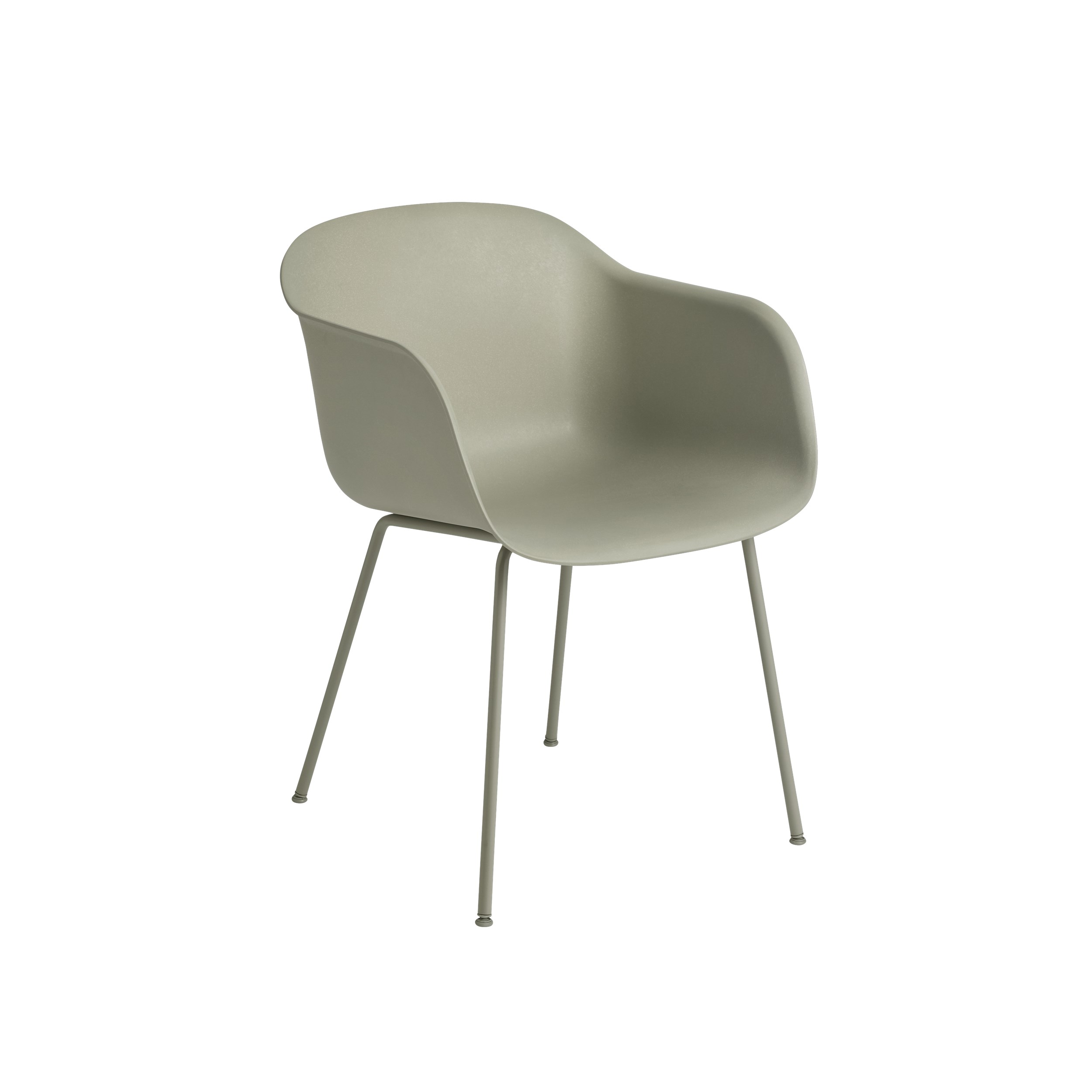 Muuto Fiber Armchair Tube Base Dusty Green/Dusty Green